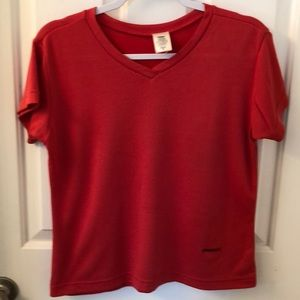 Patagonia Med red waffle texture tee